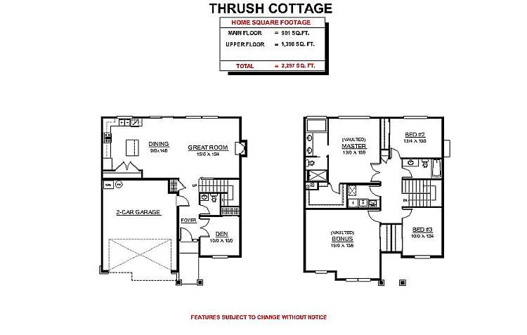 Cottage Floor Plans Option 5h Plan With Dim Cottage