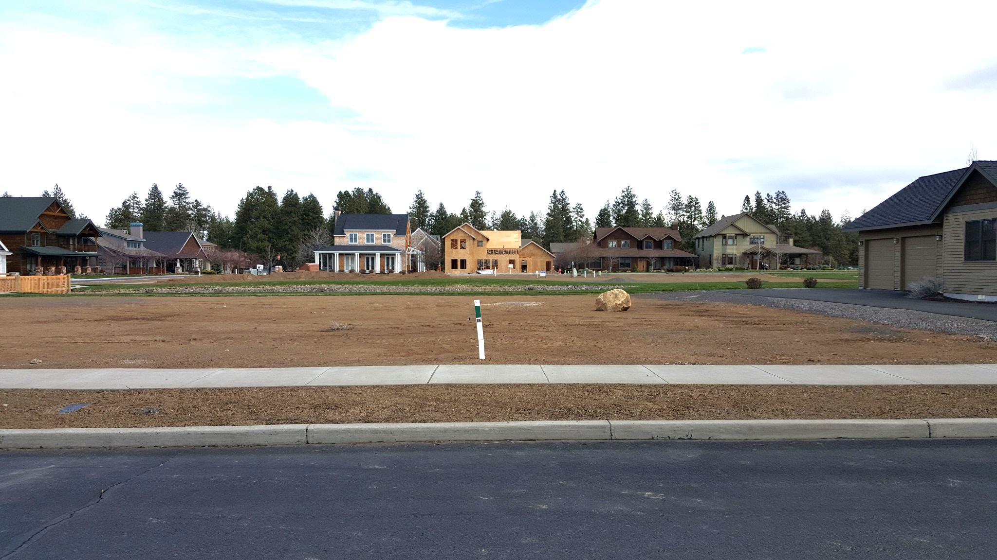 Photo of available homesite for New Homes in Sisters Oregon, Pine Meadows, by Gertz Fine Homes