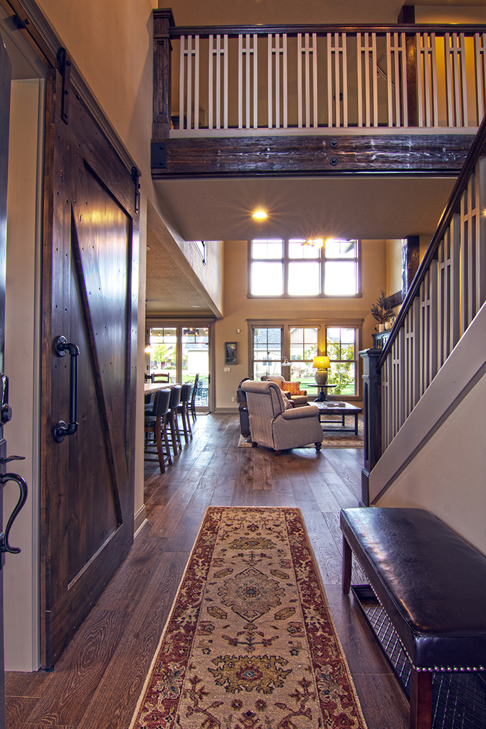 photos of various new home interiors completed in Pine Meadows at Sisters Oregon by Gertz Fine Homes to illustrate excellence of design and construction